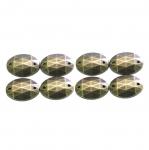 Metallilaadsed, tahulised plastikust dekoratiivkivid 14x10mm, 8tk pakis