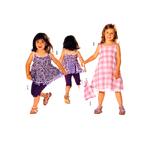 Kleidid, püksid & kotike, Kasv 92-122 cm / Dress & pants / Burda 9521