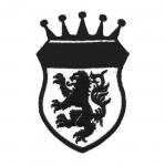 Triigitav Aplikatsioon; Vapp lõvi ja krooniga 9,5 x 6,5cm