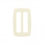 Muovista liikkuva solki, hihnan kiristin, nauhalukko 85x55 mm, sopii hihnaan leveydella 60 mm