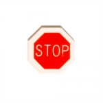 Stopmärgi kujuline, kannaga plastiknööp /Plastic Button/ 20mm/32L
