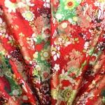 Pidulik, kauni läikega, kerge reljeefse lillemustriga kostüümikangas 62037; 138cm