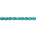 Geometric faceted glass beads, 7x5mm