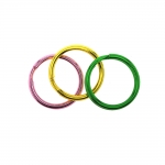 Shiny colour split rings, key rings, ø20 mm