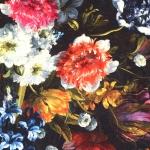Maaliliste lilledega mööblikangas, 100% puuvill 140 cm, 91206-01