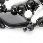 Pärlisegu Must-valgetes toonides, pärlitest 5-35mm, 100/50g pakk