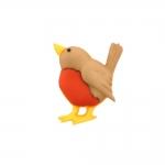 Linnukese kujuline, kannaga plastiknööp, 15x18mm/28L