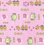 Puuvillasegu kangas, elevantide ja tibudega, kerge reljeefse mustriga 119.983