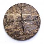 Naturaalsed kookosnööbid metallist jalaga, 34mm, 52L