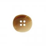 Matt, ovaalne, nelja auguga plastiknööp 17x15mm/26L
