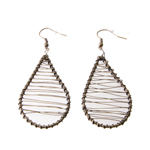 Droplet Wire Earring; 2pc / 50mm