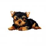 Triigitav Aplikatsioon; Taskukoerake/ Embroidered Iron-On Patch; Dog/ 7x4cm