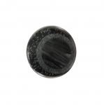 Must, läikiv laineline, kannaga nööp 23mm, 36L