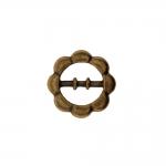 Metallist, lillekujulinea pinguti kaunistusdetail ø23 mm, rihmale laiusega 12 mm