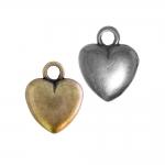 Metallist, südamekujuline riputis, aasataolise auguga, suuruses 22x18x6mm