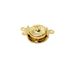 Round Box Clasp with Floral Pattern / 10mm