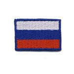 Embroidered Iron-On Patch; Small Russian Flag / 3,5 x 2cm