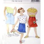 Tüdrukute teksastiilis seelik Art.55545