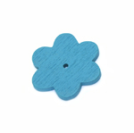 Wooden Flower Pendant / 30 x 2mm