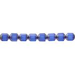 Piklik tahuline, otstest hõbedane (Jablonex) 8x6mm klaashelmes
