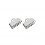 Cord End C-Crimp, Dimple Pattern; 2pc / 10mm