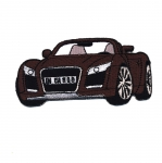 Embroidered Iron-On Patch; Audi TT Sports Car / 9,5 x 4,5cm