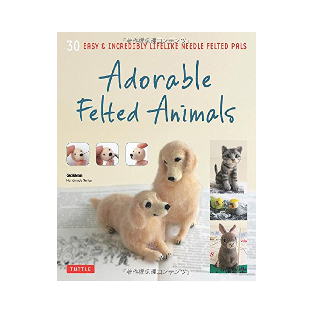 Raamat `Adorable Felted Animals`