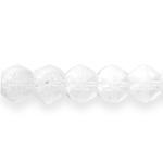 Tahuline soolakristallilaadne keskelt auguga matt jäine klaashelmes 12x10mm (Preciosa)