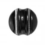Kumera pinnaga, reljeefse triibuga, pidulik, süvistatud kannaga nööp 40mm, 60L