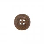 Kandilise vormiga, nelja auguga puitnööp, 17mm, 26L