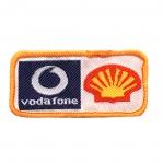 Triigitav Aplikatsioon `Vodafone & Schell` logod 6,5x3,3cm