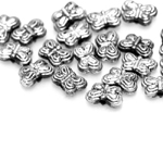 Erineva kujuga metallilaadsed plastikhelmed 5- 10mm; väikepakend 20- 70tk