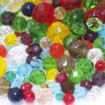 Pärlisegu erivärvilistest ümaratest pärlitest 6-14mm, 100/50g pakk