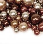 Pärlisegu Tumepruunidest pärlmutter, ümaratest pärlitest 4-12mm, 100/50g pakk