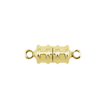 Magnetkinnis / Cylindrical Magnetic Clasp with Ridge Pattern / 17 x 6mm