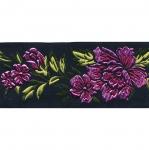 Must pael, värvilise lillemustriga 50 mm, Art.50096FC