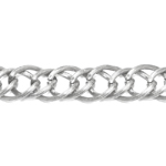 Decorative metal chain (aluminum) 17 x 14 x 2,5 mm