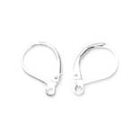 Earring Ear Wires, Lever Back; 2pc / 13 x 10mm