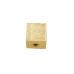 Memory Wire End Cap Cube / 4mm