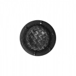 Must, reljeefse mustriga, kannaga nööp 22mm, 34L