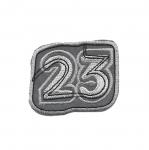"Helkur-aplikatsioon, triigitav; ""23 / Iron-on Reflective Patch / 6,5x5cm"
