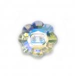 Lillekujuline kristallilaadne akrüülnööp 18mm, 28L