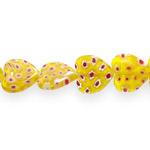 Kirjud mustrilised südamekujulised millefiori pärlid 16x16x4mm