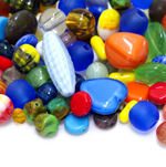 Various Glass Beads, Mixes