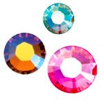 Klaaskristallid kangale, liimitavad, kuumkinnituvad; Swarovski jt