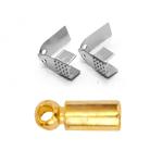 Otsikud, otsakinnised / Cord Tips, End Caps, Loop Crimps, Cord Coil Ends, Jewellery Ribbon Crimps