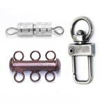 Necklace Parts: Fasteners, End Bars, Crimps, Ends, Clasps, Tags, Tips
