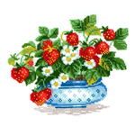 Embroidery Kits with Flowers, Fruits..