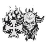 Pääkallot, kruunut, tattoo, ristit...