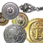 Metallnööbid, metalliknööbid ja iluhaagid